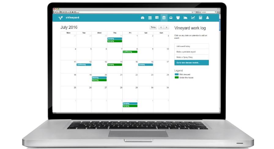 eVineyard calendar
