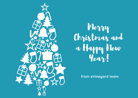 For a good start of 2019: Marry x-mas and a Happy 2019 from eVineyard team