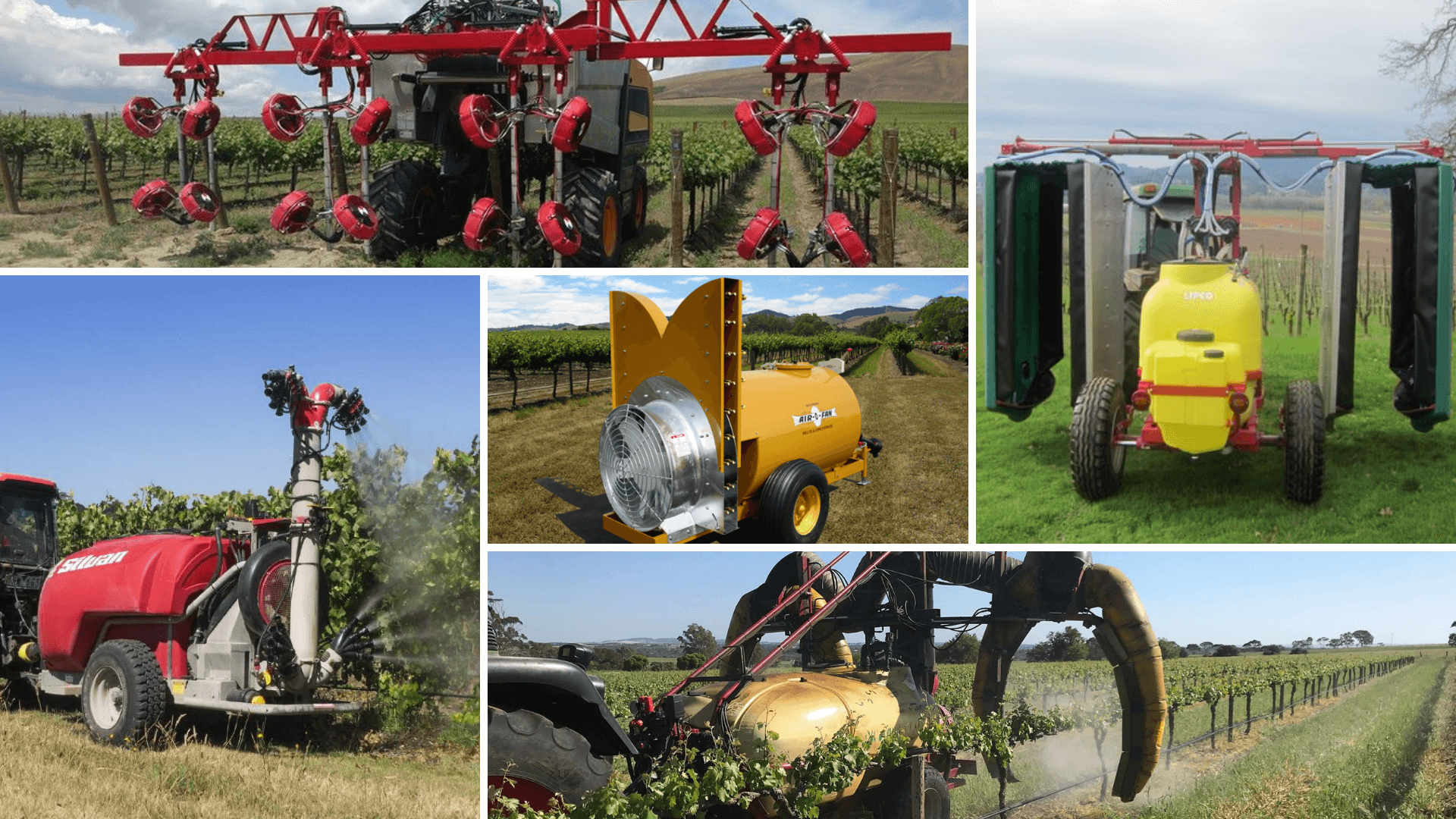 diffrent vineyard-sprayers