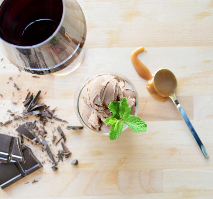 ice cream&wine